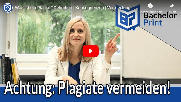 Plagiate in Bachelorarbeit Bedeutung