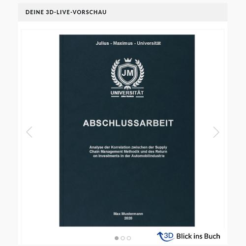 Abschlussarbeit Hardcover Premium Blick ins Buch