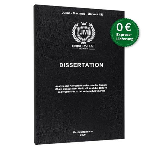 Dissertation binden Standard Hardcover stehend