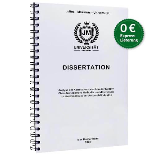 Dissertation drucken binden Spiralbindung Stehend