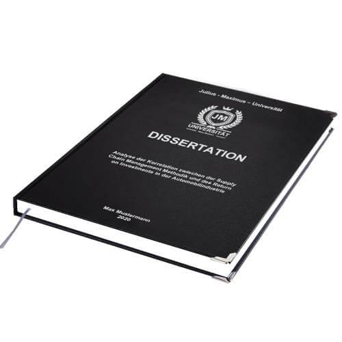 Dissertation drucken binden Standard Hardcover
