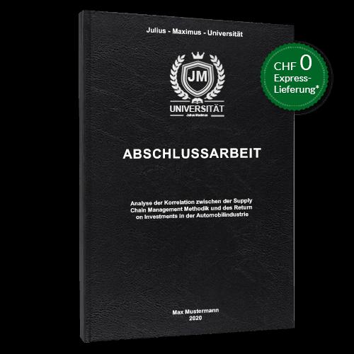Abschlussarbeit binden Hardcover Standard schwarz