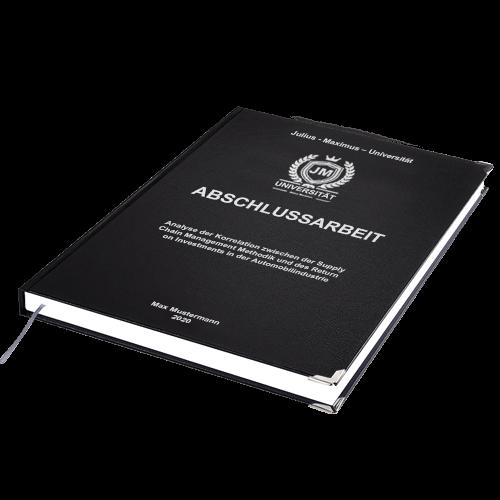 Abschlussarbeit binden Hardcover schwarz Standard