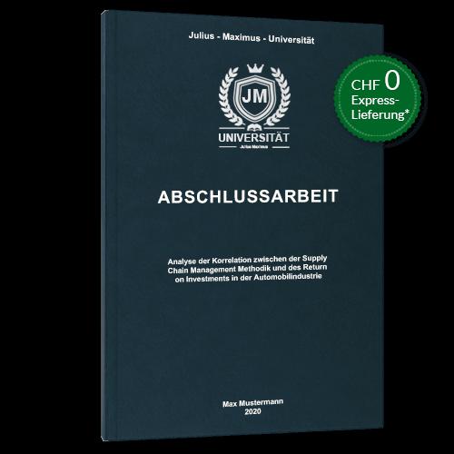 Abschlussarbeit binden Premium Hardcover stehend Störer