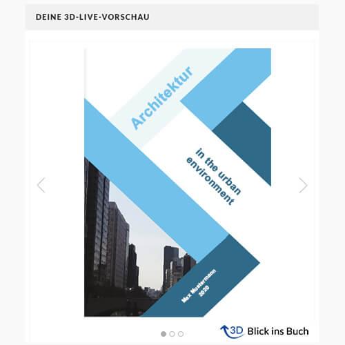 Buch binden Magazinbindung 3D-Vorschau