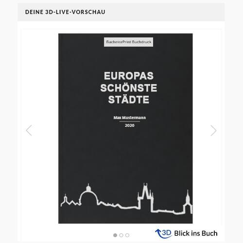 Buch binden Standard Hardcover 3D-Vorschau