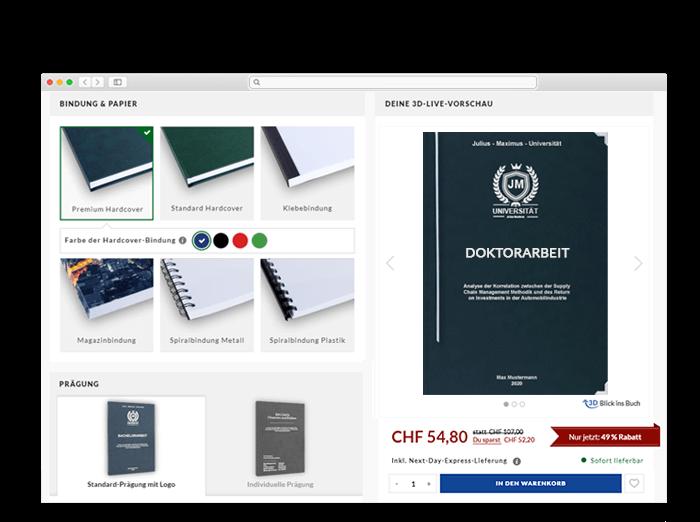 Doktorarbeit Header Online-Shop