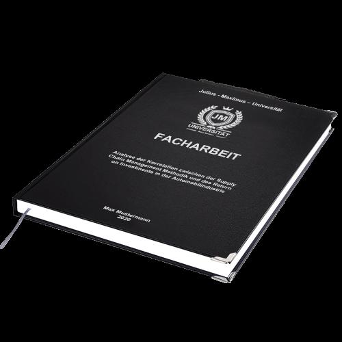 Facharbeit drucken online Hardcover Standard schwarz
