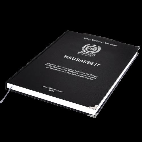 Hausarbeit drucken binden Hardcover schwarz Standard