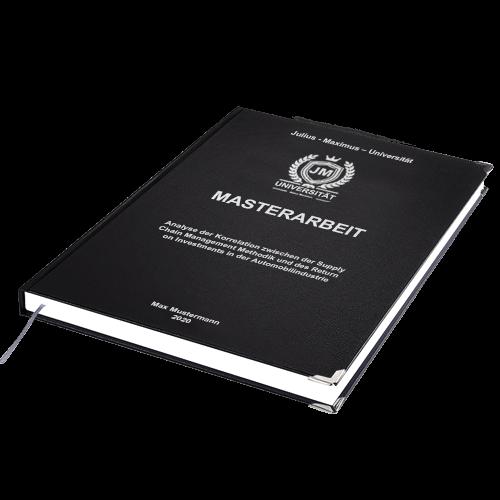 Masterarbeit drucken binden schwarz Hardcover Standard