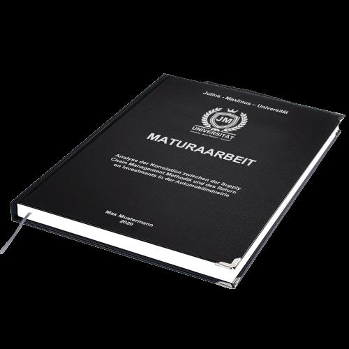 Maturaarbeit drucken binden Hardcover Standard Buchecken