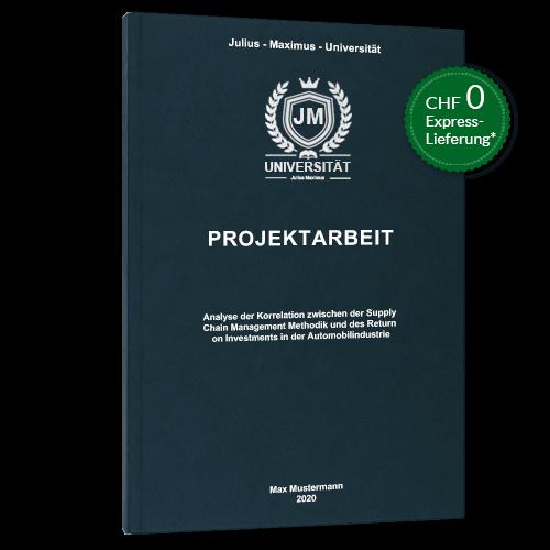 Projektarbeit Premium Hardcover stehend
