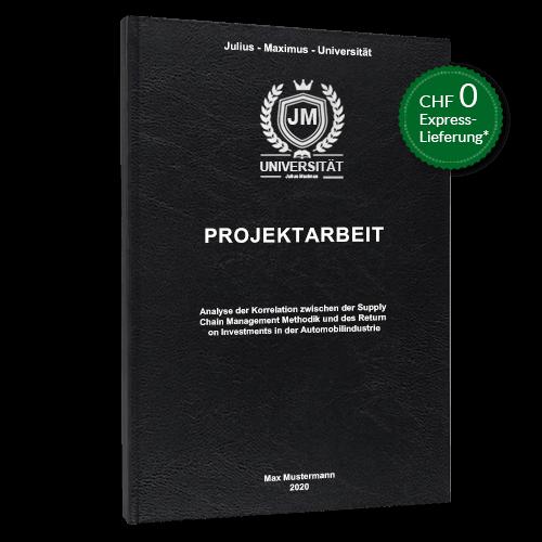 Projektarbeit Standard Hardcover stehend