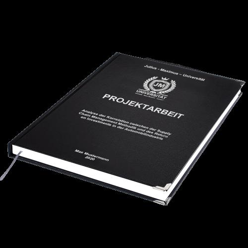 Projektarbeit drucken binden Hardcover Standard Buchecken