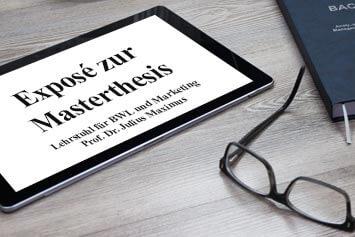Gliederung Aufbau Bachelorarbeit Exposé schreiben Beispiel