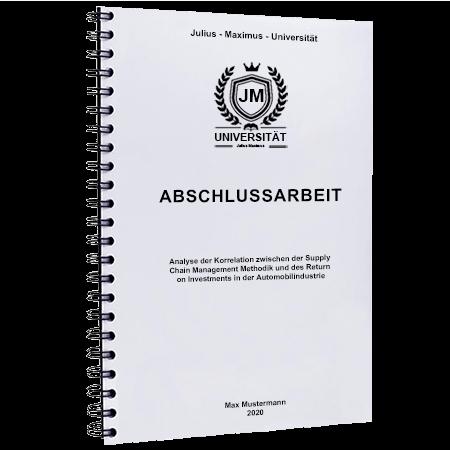 Abschlussarbeit binden Basel