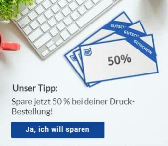 Copyshop Luzern 50 Prozent sparen