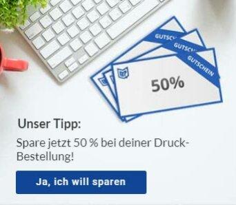 Copyshop St. Gallen 50 Prozent sparen