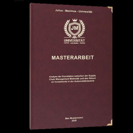 Masterarbeit binden Winterthur