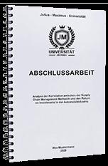Abschlussarbeit Zürich Bindungen
