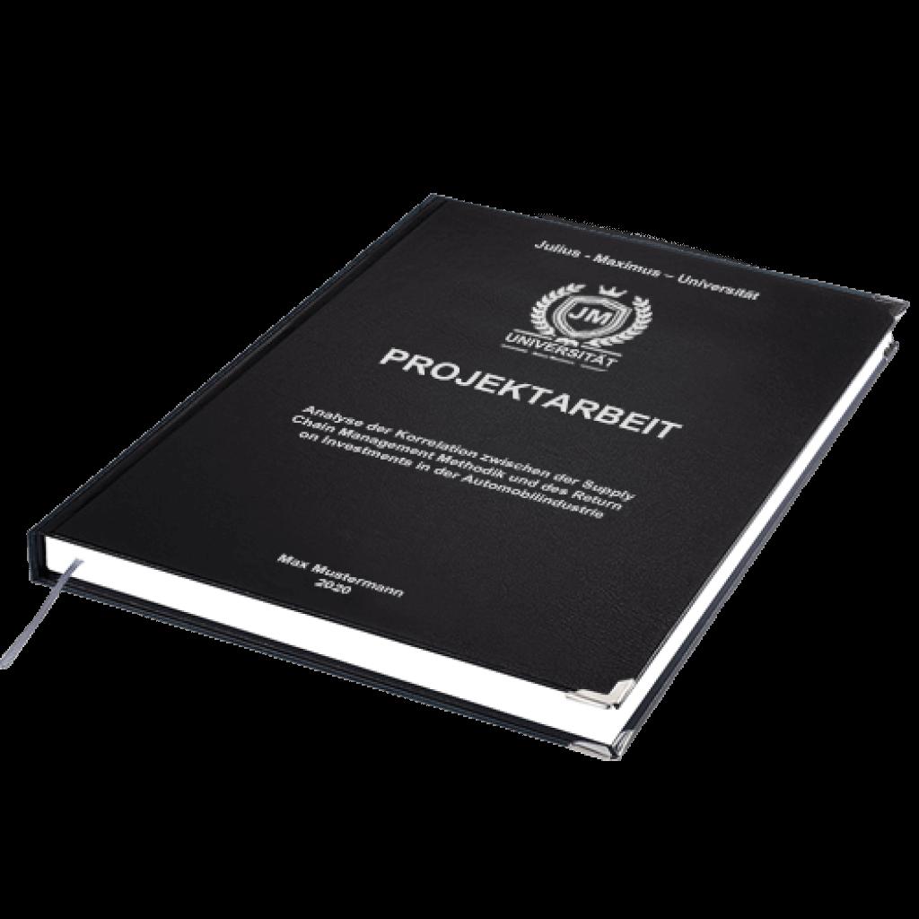Projektarbeit drucken Hardcover Standard liegend