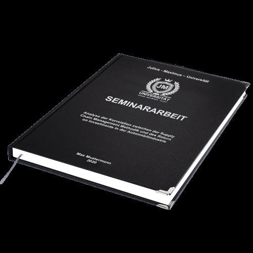 Seminararbeit drucken Standard Hardcover liegend